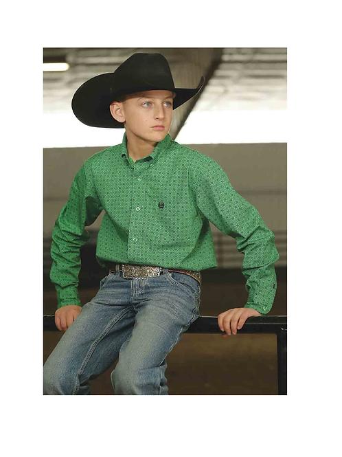 Boys Cinch Western Shirt MTW7061154