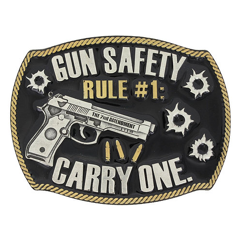 Attitude Rule Number One Gun Safety Buckle