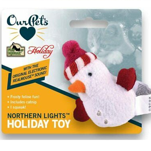 """Ourpets - Holiday Snowman Cat Toy 3"""" With sounds"""