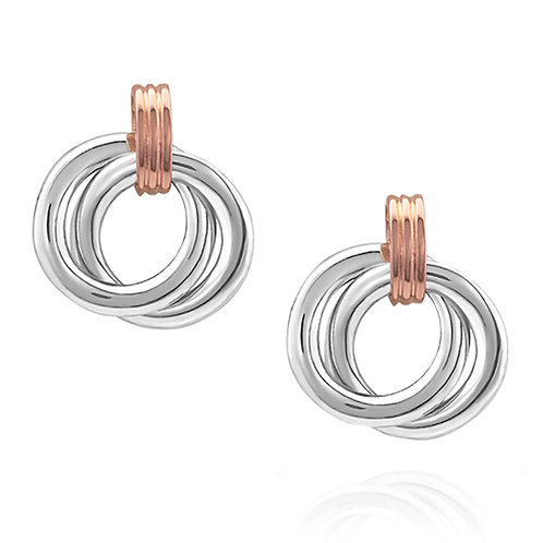 Montana Silversmith Two Tone Double Ring Earrings