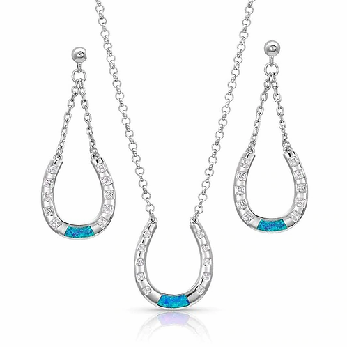 """Montana Silversmith """"At The Center of it All"""" Necklace Set"""