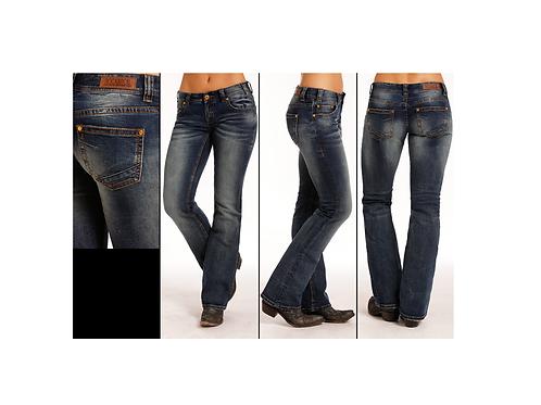 Rock & Roll Denim Simple Dart Original Boot Cut Jeans