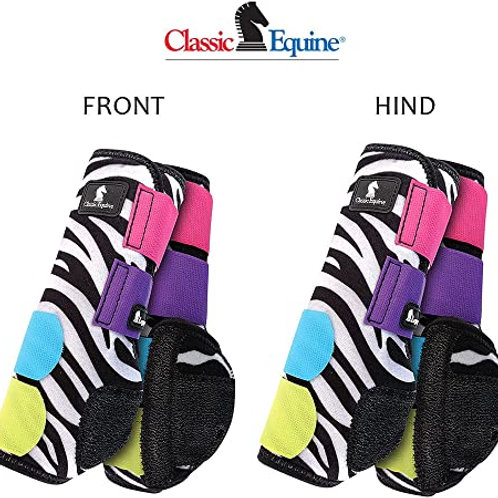Classic Equine Zebra Legacy Boots - 4 Pack