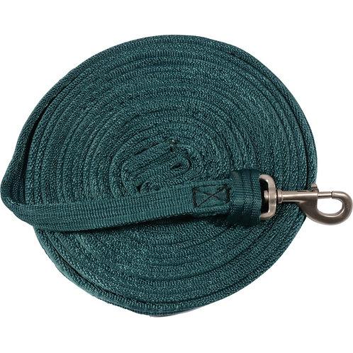 Cushion Web Lunge Line 25' - Hunter Green