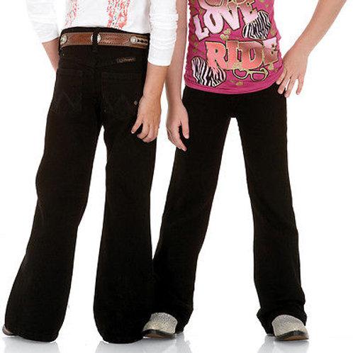 Girl's Wrangler Black Q-Baby Jeans
