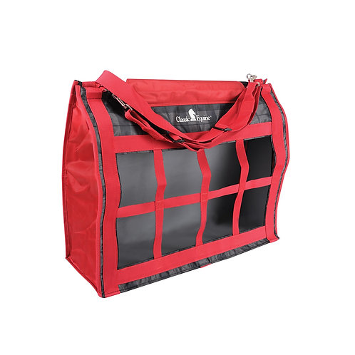 Classic Equine Red/Black Top Load Hay Bag