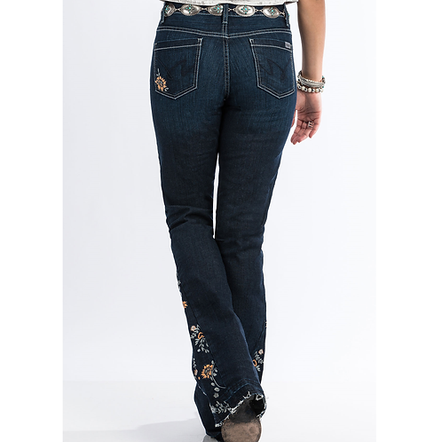 Cinch Hannah Floral Flare Jeans