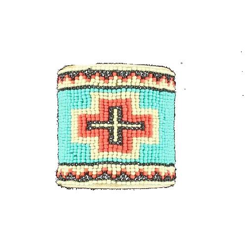 Blazin Roxx Beaded Cross Bracelet
