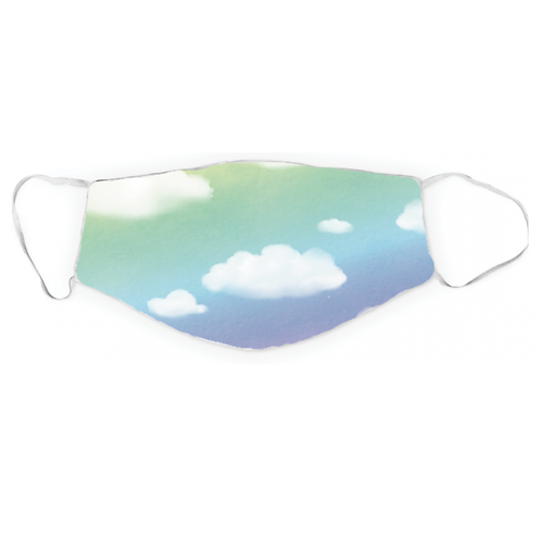 Dreamers & Schemers 2 Layer Lycra Mask - Clouds