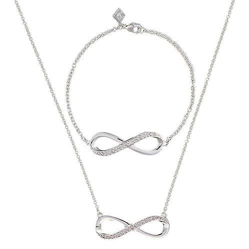 Montana Silversmith Infinity Bracelet/Necklace set JSBC2013CZ