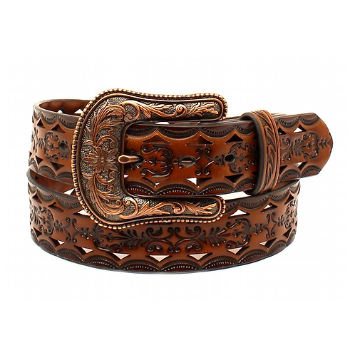 Ariat Chocolate Brown Cut Out Belt