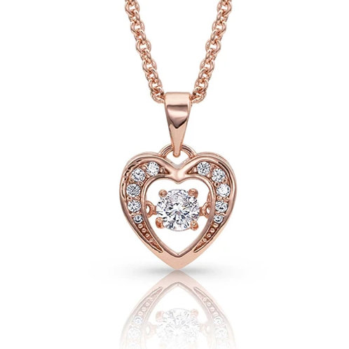 Montana Silversmith Dancing Heart Rose Gold Necklace