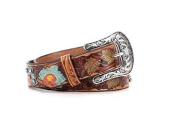 Ariat Painted Flower Bling Belt