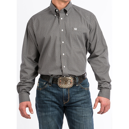 Cinch Steel Modern Print Western Shirt