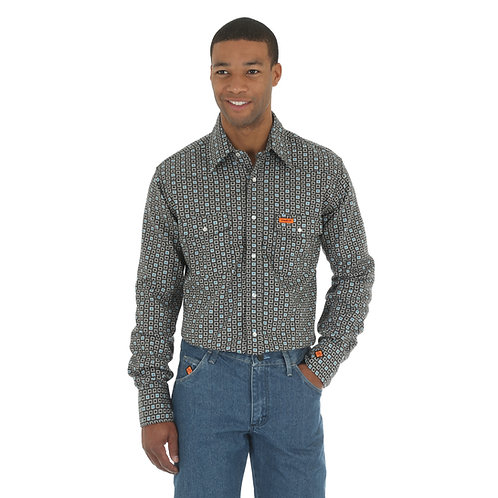 Wrangler FR Black & Blue Checkered Shirt