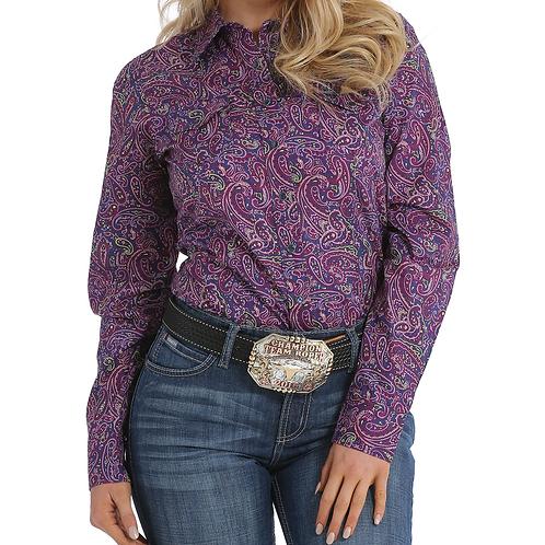 Cinch Purple & Lime Paisley Western Shirt