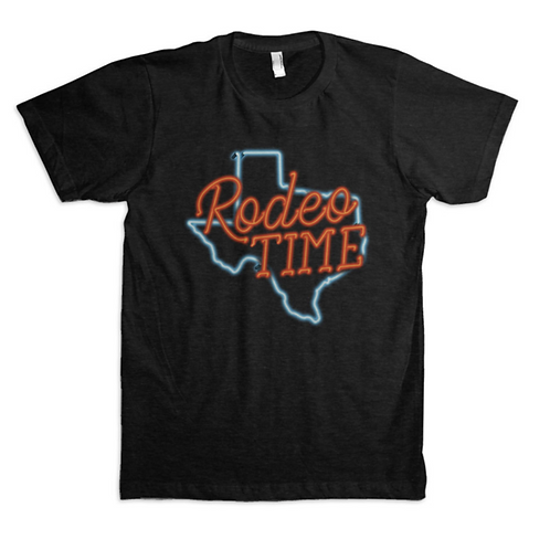Dale Brisby 'Rodeo Time' Neon Sign Tee