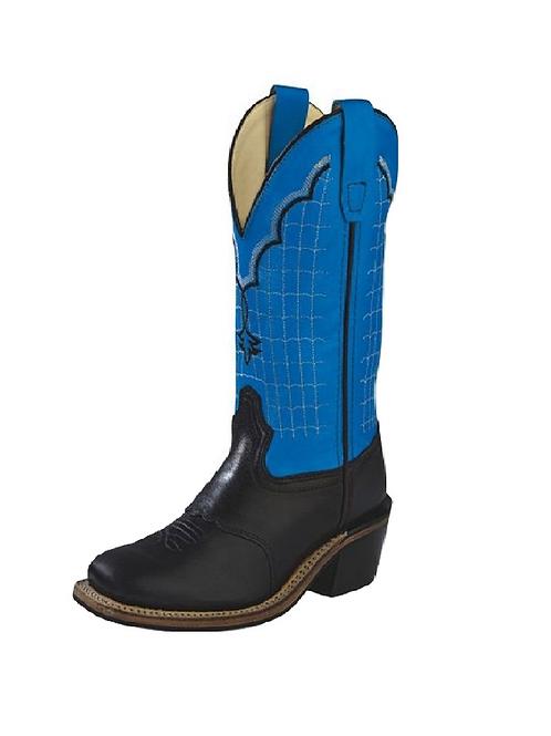 Old West Black Blue Boot