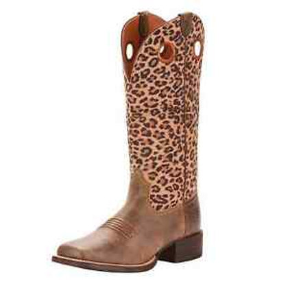 Ariat Round Up Cheetah Boots