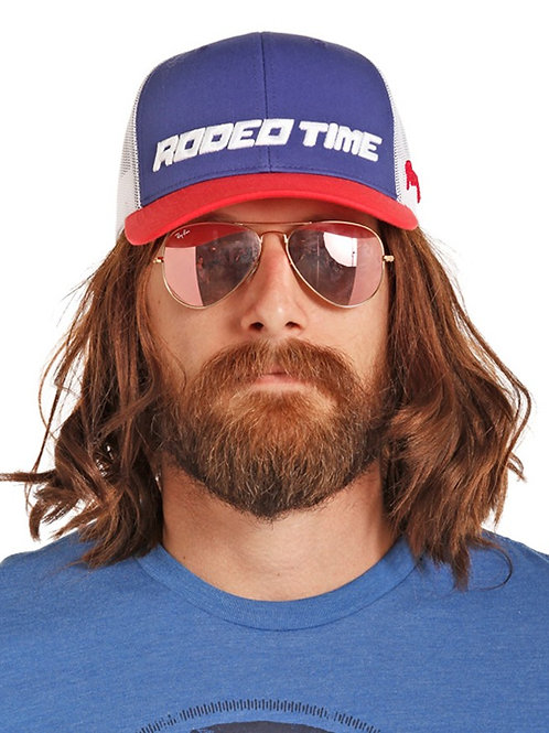 Dale Brisby Blue Red Rodeo Time Snapback
