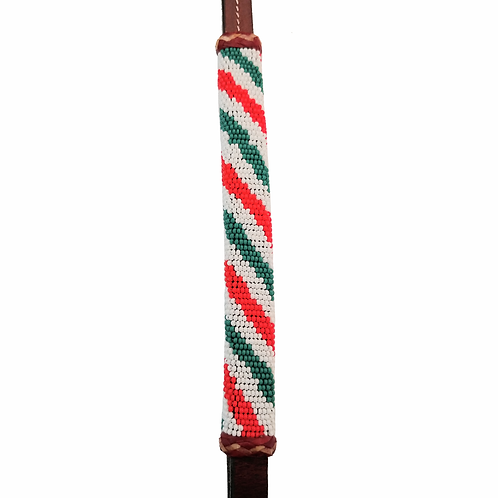 TN Brown Beaded Over & Under - Candy Cane