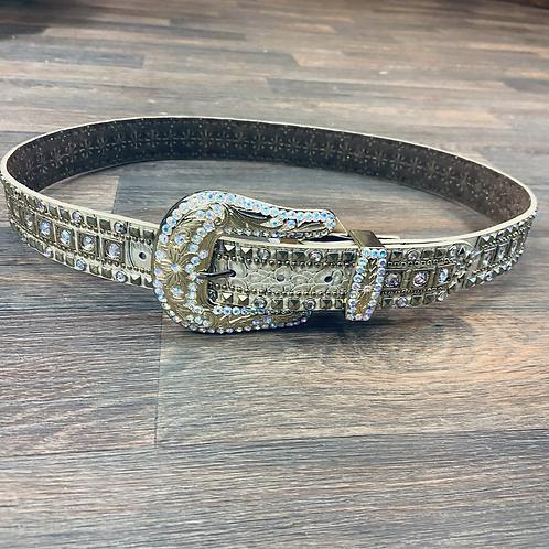 Ladies Ultra Gold Gator Belt