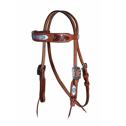 Professional's Choice White Beaded Headstall