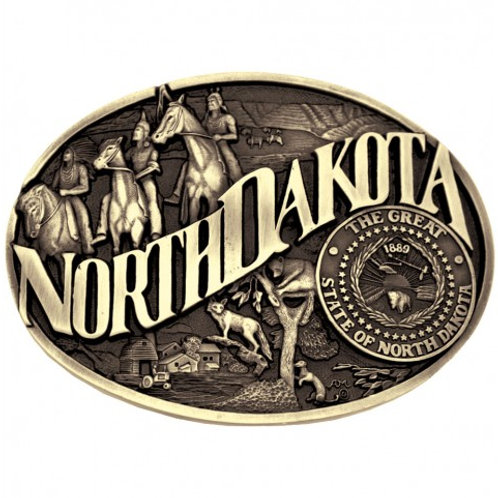 Montana Attitude North Dakota Heritage Buckle