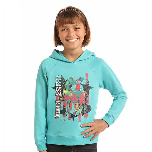 Panhandle Turquoise 'Just Ride' Graphic Hoodie