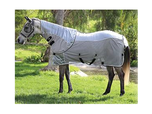 Professional's Choice Comfort Fit Fly Sheet - Charcoal & Black