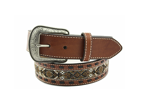 Hooey Brown & Black Beaded 1662BE2 Belt
