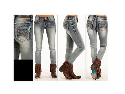 Rock & Roll Denim Light Vintage Wash Skinny Jeans
