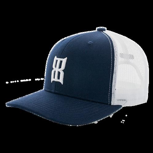 BEX Steel Cap - Navy & White
