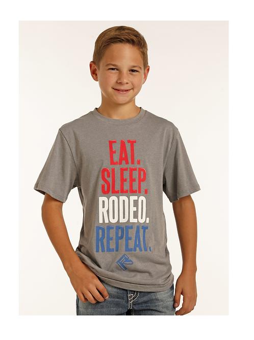 Rock & Roll Cowboy Eat. Sleep. Rodeo. Repeat.Tee