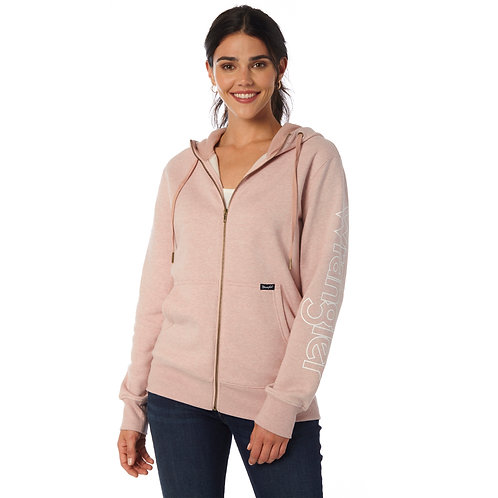 Ladies Wrangler Light Pink Signature Zip Up