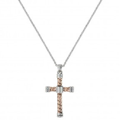 Faith is an Open Book Cross Necklace