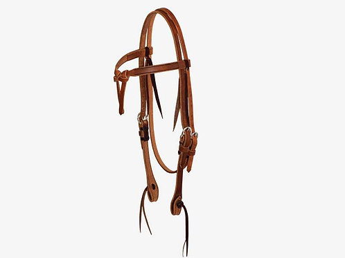 """Wildfire Saddlery 5/8"""" Tie Front Browband Headstall"""