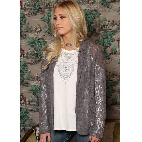 Cinch Silver Lace Blazer