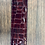 Thumbnail: Ladies Red Glossy Marble Gator Belt