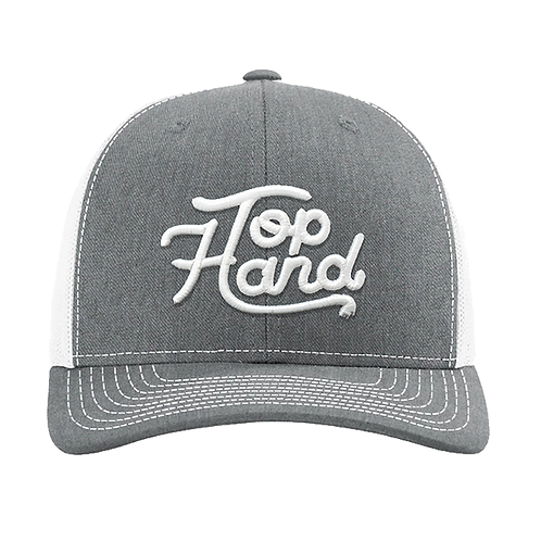 Top Hand Ropes Grey & White Cursive Cap