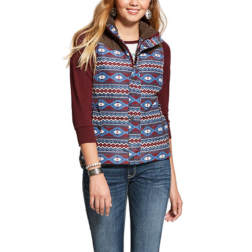 Ariat Country Vest - Blue & Red Aztec