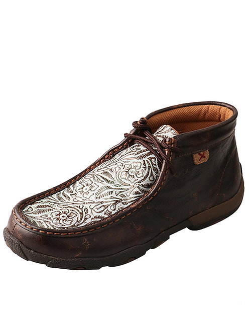 Twisted X Driving Moc - Brown Turquoise Print