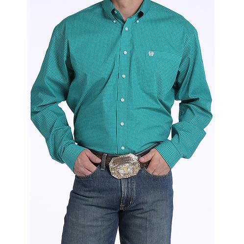 Cinch Teal Checker Western Shirt