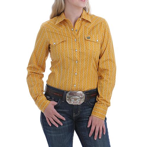 Ladies Cinch Mustard Western Shirt