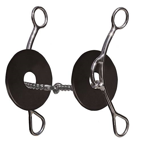 """Brittany Pozzi 8"""" Twisted Wire Snaffle BPB-131"""