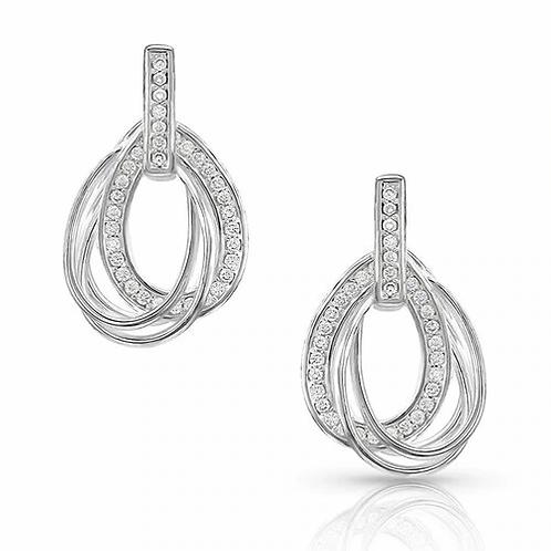 Montana Silversmith Double Teardrop Earrings