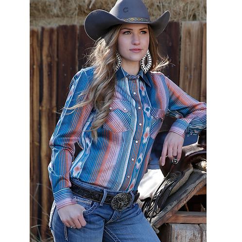 Cinch Retro Striped Western Fashion Top
