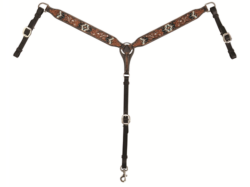 Circle Y Distressed Beaded Breast Collar