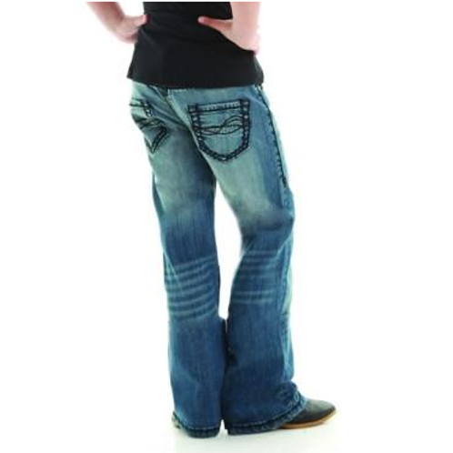 Cowgirl Tuff - Girls 'Dont Fence Me In Black' Jeans