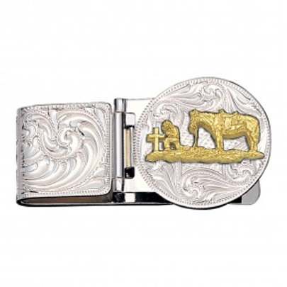 Praying Cowboy Hinged Money Clip